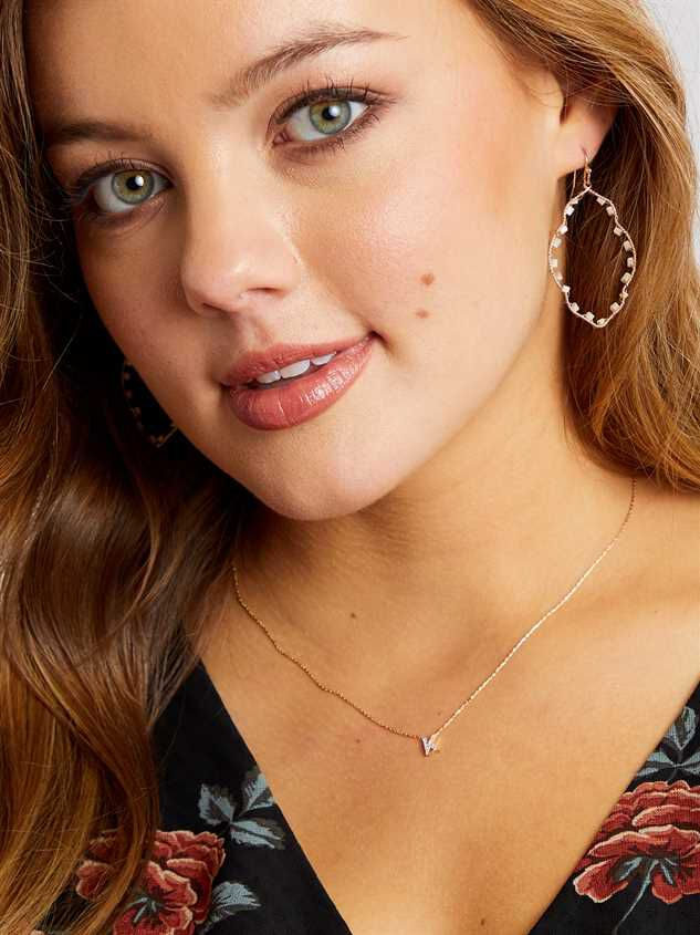 Rhinestone Initial Necklace – K Detail 2 - Altar'd State