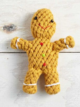 Holiday Gingerbread Dog Toy - Altar'd State