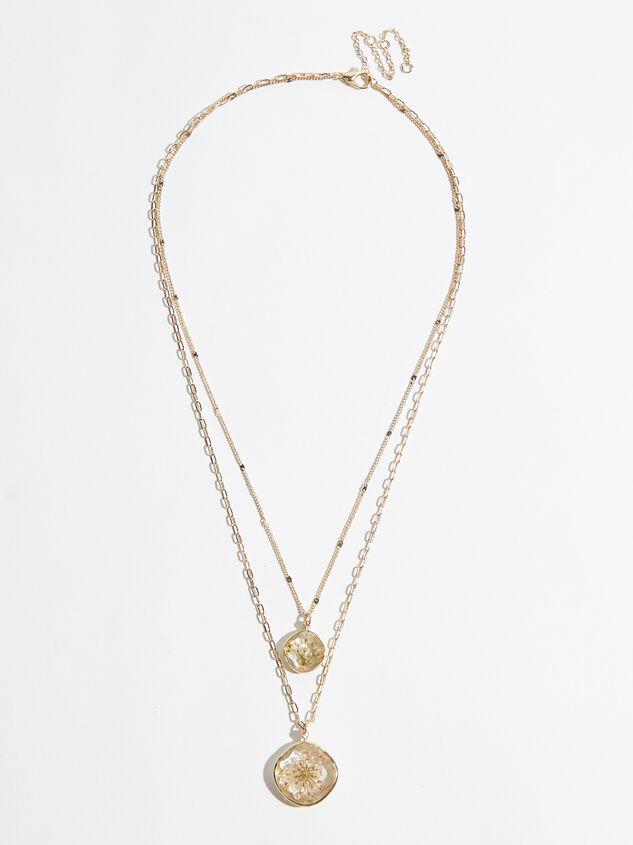 Olivia Flower Necklace Detail 2 - Altar'd State