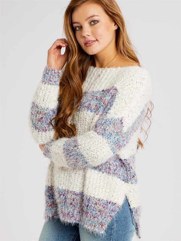 Lovely Lash Marled Sweater Detail 4 - Altar'd State