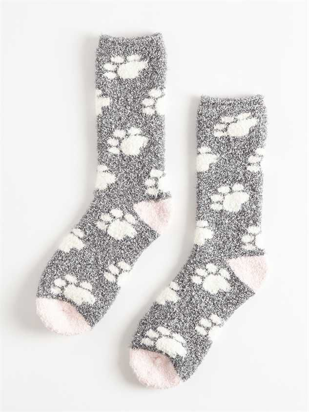 Oh, So Cozy Socks - Paw Print - Altar'd State