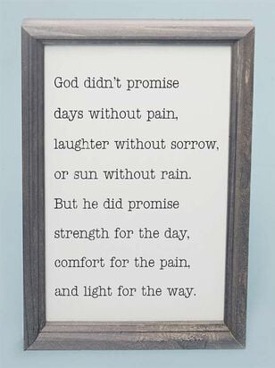 God Didn't Promise Wall Art - Altar'd State