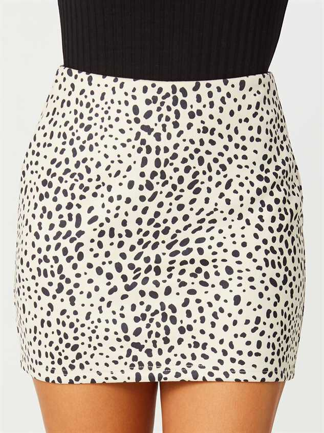 Rainey Dalmatian Skirt Detail 2 - Altar'd State