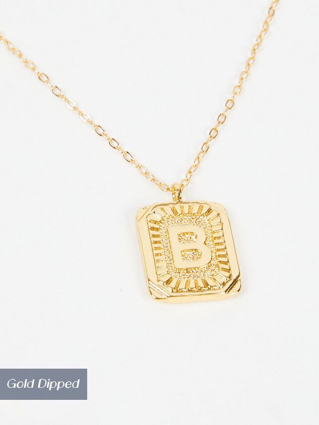 Burst Tag Monogram Necklace - B - Altar'd State