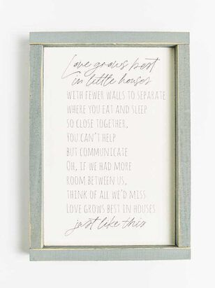 Love Grows Best Wall Art - Altar'd State