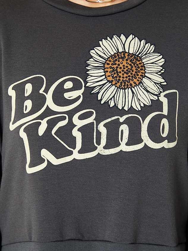 Be Kind Sunflower Pullover Detail 4 - Altar'd State
