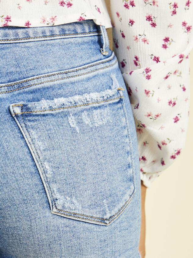 Holly Denim Shorts - Medium Wash Detail 5 - Altar'd State