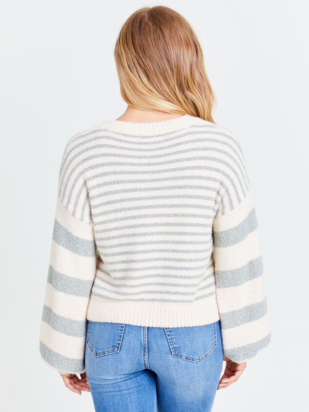 So Cozy Striped Sweater Detail 2 - Altar'd State