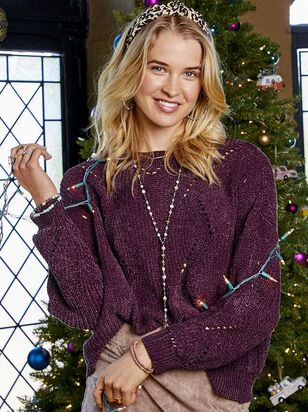 Eversoft Chenille Pointelle Sweater - Altar'd State
