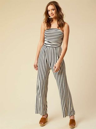 Striped Navagio Jumpsuit - Altar'd State