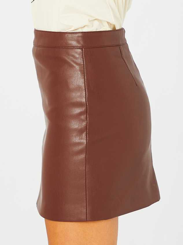Jane Leather Skirt Detail 3 - Altar'd State