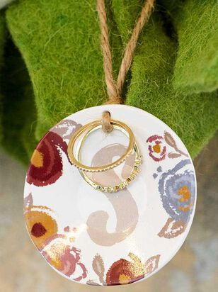 Monogram Ring and Dish Set - S - Altar'd State
