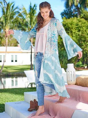 Aqua Stream Kimono - Altar'd State