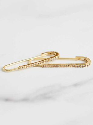 Crystal Safety Pin Earrings - Altar'd State