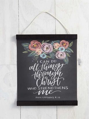 Philippians 4:13 Hanging Wall Art - Altar'd State