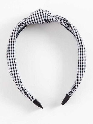 Gingham Knot Headband - Altar'd State