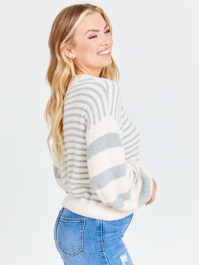 So Cozy Striped Sweater Detail 3 - Altar'd State