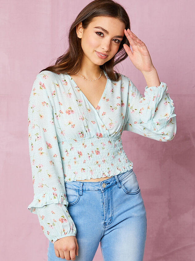 Wiley Floral Smocked Top - Altar'd State