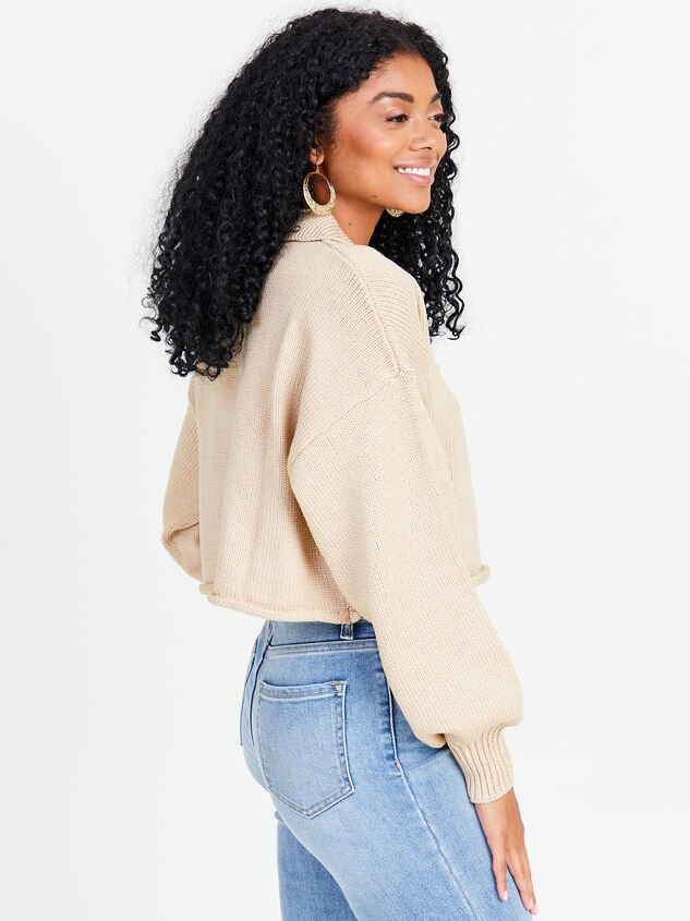 Polo Boxy Cropped Sweater Detail 2 - Altar'd State