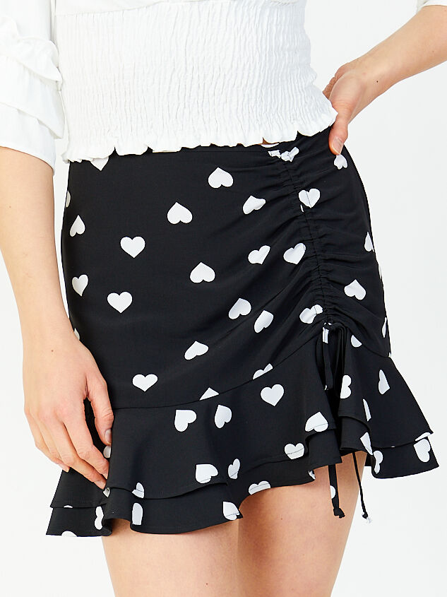 Karmen Hearts Skirt - Altar'd State