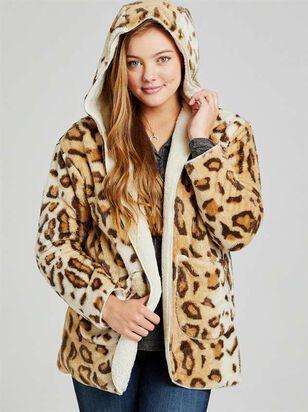 Leopard Fur Reversible Jacket - Altar'd State