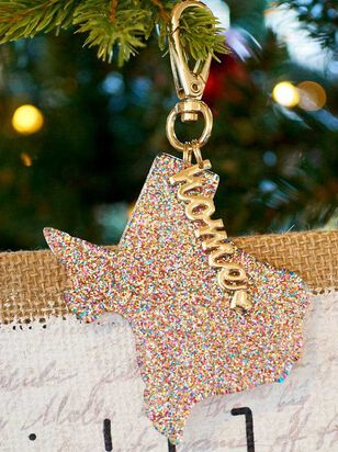 Home Glitter Keychain - Texas - Altar'd State
