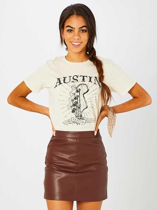 Jane Leather Skirt - Altar'd State