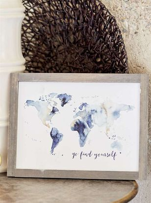 Go Find Yourself World Map Framed Wall Art - Altar'd State