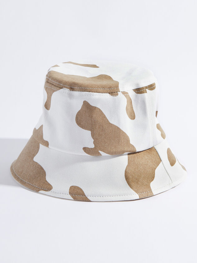 Cow Print Bucket Hat Detail 1 - Altar'd State