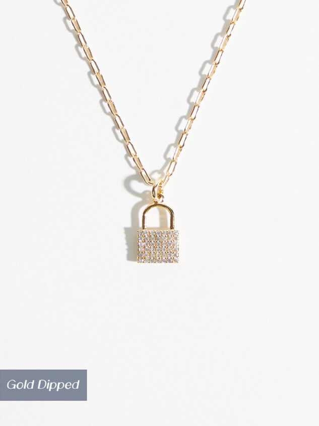 18k Gold Dainty Lock Necklace - Altar'd State