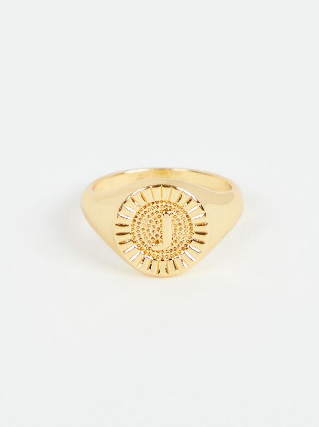 Sunburst Monogram Ring - J - Altar'd State