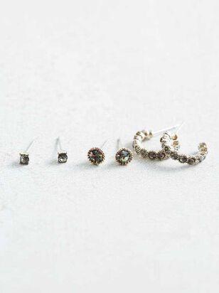 Black Diamond Earring Set - Altar'd State