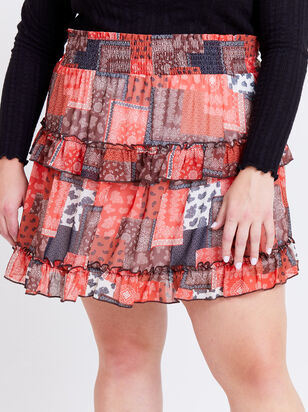 Nina Patchwork Skirt - Altar'd State