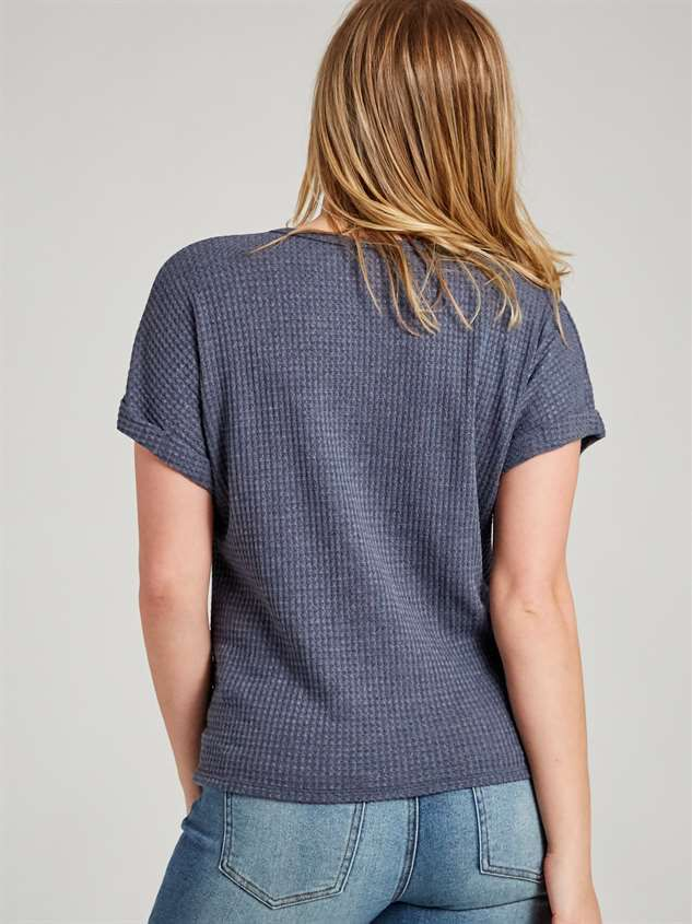 Dreamin' in Thermal Short Sleeve Top Detail 3 - Altar'd State