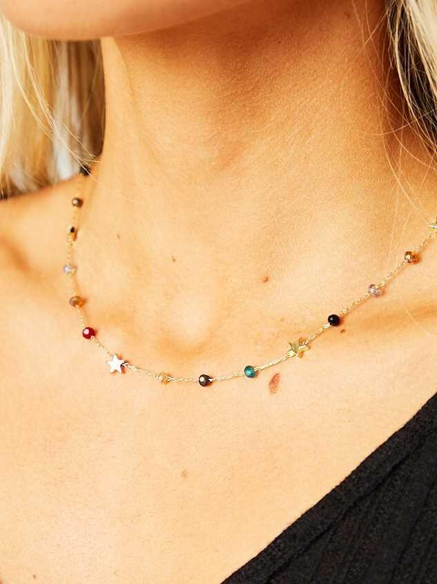 Deagan Star Choker Necklace Detail 2 - Altar'd State