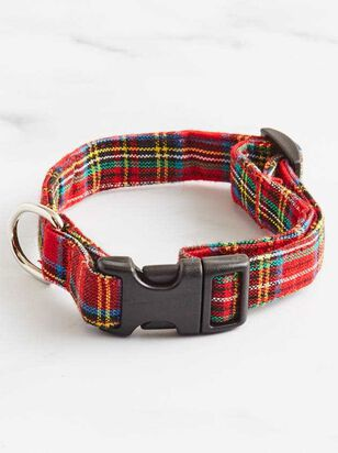 Bear & Ollie's Red Tartan Dog Collar - Altar'd State