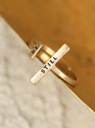 Sentiment Ring - Be Still - Altar'd State