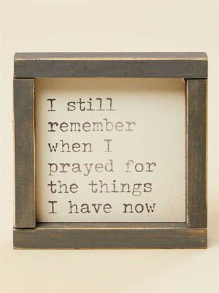 When I Prayed Wall Art - Altar'd State