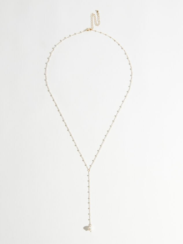 Dainty Pearl Drop Necklace - Altar'd State