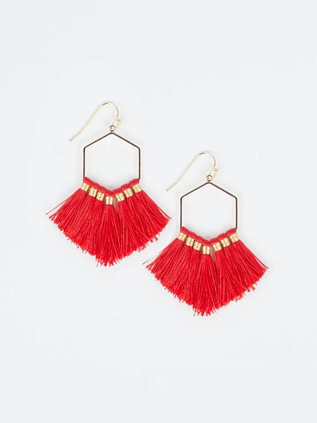 Avanti Earrings - Red - Altar'd State