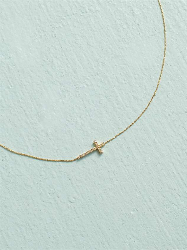18K Gold Dipped Cross Necklace - Altar'd State