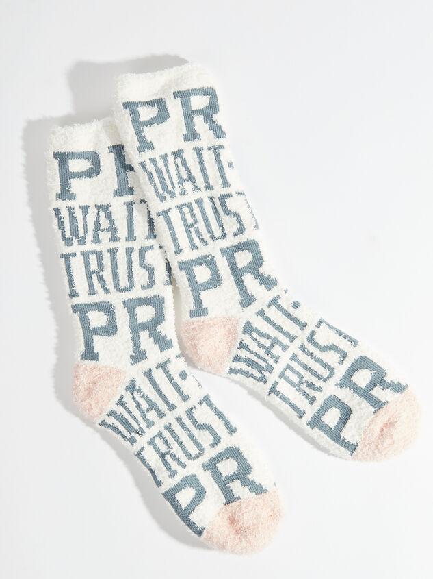 Pray Wait Trust Cozy Socks - Altar'd State