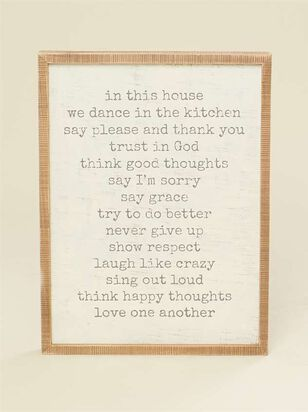 In This House Wall Art - Altar'd State