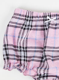 Tullabee Pink Plaid Shorts Detail 3 - Altar'd State