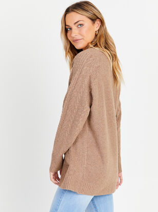 Ivee Cable Knit Cardigan - Altar'd State