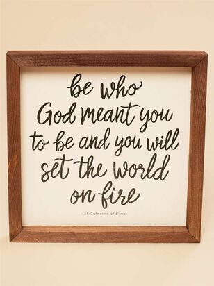Be Who God Meant You To Be Wall Art - Altar'd State
