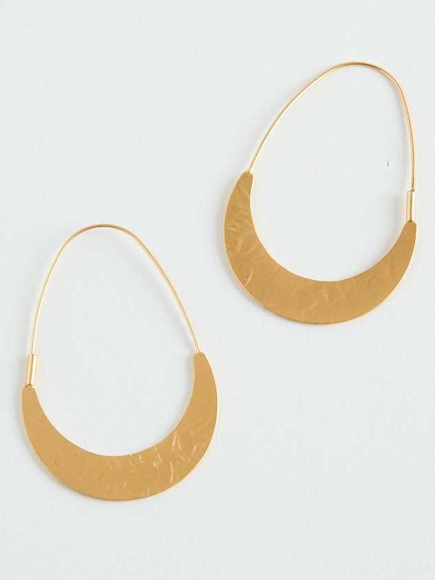 Oblong Hammered Earrings - Altar'd State