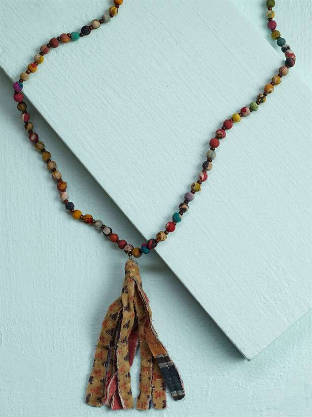 Fabia Tassel Necklace - Altar'd State