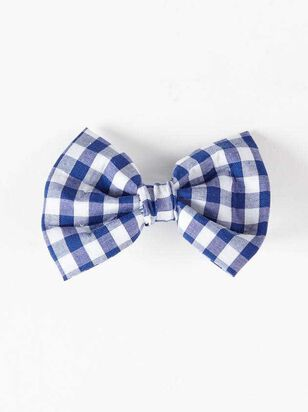 Bear & Ollie's Blue Gingham Collar Bow Tie - Altar'd State