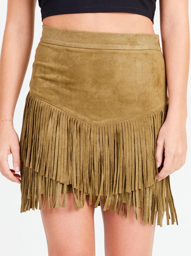 Fearless Fringe Suede Skirt - Altar'd State
